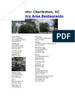 Find Restaurants in Charleston South Carolina When Traveling on Vacation