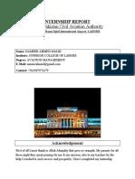 CAA internship report