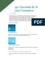Catálogo Nacional de la Oferta Formativa