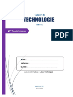 Cahier de Technologie 2AS -v2