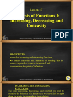 Lesson 17-Analysis of Functions I; Increasing, Decreasing and Concavity.ppt