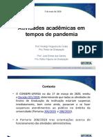 PROGRAD - Atividades Acadêmicas em tempos de pandemia - Maio de 2020 (2)