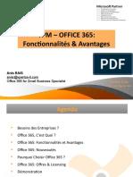 TPM - OFFICE 365 Fonctionnalités & Avantages v1.0