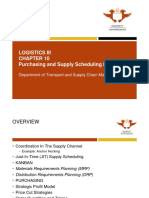 LOGISTICS CHAPTER 10 PURCHASING AND SUPPLY SCHEDULING DECISIONS REVISED 2017