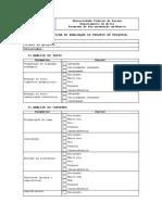 UFPR - Anexo 4 FICHA DE AVALIAÇÃO DOS PROJETOS