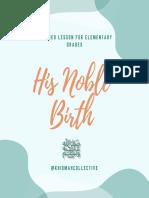 His Noble Birth ﷺ
