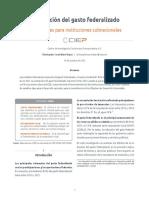 Contracción del gasto federalizado. Implicaciones para instituciones subnacionales