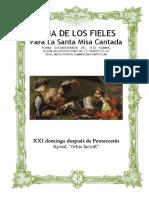 XXI Domingo Después de Pentecostés. Guía de los fieles para la santa misa cantada. Kyrial Orbis Factor