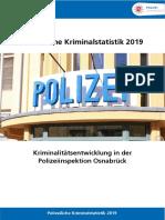 Polizeiliche Kriminalstatistik 2019 - Polizeidirektion Osnabrück Diebstahl Einbruch PKS_2019