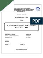 ETUDE D'UNE VILLA R+1 A USAGE D'HABITATION - Projet fin de cycle