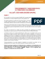 TALLERES SANCIONES, CORRECIONES, FIRMEZA,DEVOLUCION Y COMPENSACIONES  2 3 Y 4