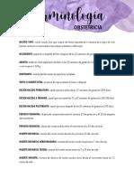 Terminología Obstetricia