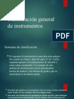 Clasificación general de instrumentos