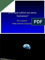 Por qué sufren los seres humanos