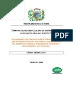 TDRS FICHA TECNICA EDUCACION