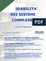 Affidabilità dei Sistemi Complessi