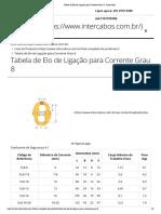 Tabela de Elo de Ligação para Corrente Grau 8 - Intercabos