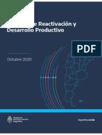 Medidas de Reactivación y Desarrollo Productivo