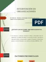 INTERVENCIÓN EN  ORGANIZACIONES