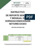 JPR-ITT-052-2020 INSTRUCTIVO DE REPORTE SEMANAL Y MENSUAL DE HORNO