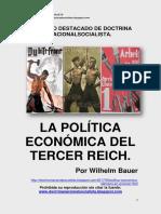 LA POLÍTICA ECONÓMICA EN EL TERCER REICH
