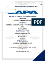 TRABAJO FINAL Derecho Administrativo y Sus Procedimientos