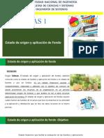 Presentación Estado de origen y aplicación de  fondo