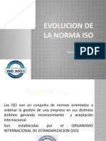 EVOLUCION DE LA ISO