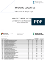 Grupo 220 - Português e Inglês lista