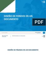 5. Diseño de fondos en un documento