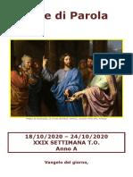 Sete di Parola - XXIX Settimana T.O._A.doc