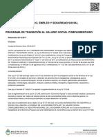 BOA Resolución 201-E/2017 PROGRAMA DE TRANSICIÓN AL SALARIO SOCIAL COMPLEMENTARIO