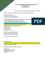 Ejemplo Ingresos - Costos - Renta Bruta