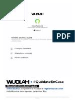 TEMAS DE SELECTIVIDAD DE LENGUA CASTELLANA Y LITERATURA
