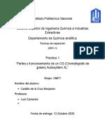 Partes y funcionamiento de un CG (Cromatógrafo de gases) Autosystem XL