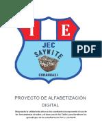 PROYECTO DE ALFABETIZACIÓN DIGITAL saywite
