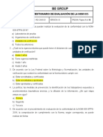 cuestionario de evaluación NOM 035