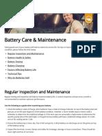 Battery Care & Maintenance - Century Batteries