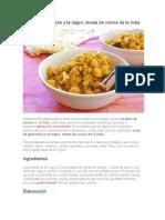 Curry de garbanzos y té negro