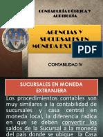 AGENCIAS Y SUCURSALES EN MONEDA EXTRANJERA
