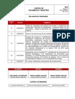 PR-01 Control documentos y registros