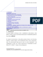 CONTABILIDADE DE INFRA-ESTRUTURAS E OBRAS PUBLICAS