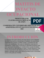 DERMATITIS DE CONTACTO OCUPACIONAL