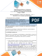 Guía de actividades y rúbrica de evaluación paso 2 - Identificar en el contexto oportunidades