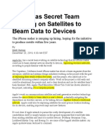 Apple Has Secret Team Working on Satellites to Beam Data to Devices.docx
