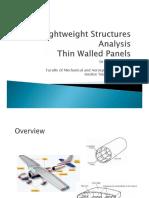 ASR Thin Walled Panel Analysis Shear Flow 2020
