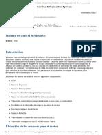 C7.1  SISTEMA DE CONTROL ELECTRÓNICO