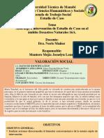 ABORDAJE E INTERVENCIÓN DE ESTUDIO DE CASO 16A