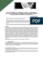 Incidencia del aprendizaje tecnico teorico y el componente práctico..