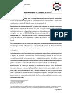 SOUSA, Edmar J. X. A inflação em Angola. Luanda. CCIAH. Parecer, 2020